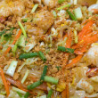 Pad thai with seafood - Stock Photo