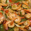 Shrimp With Asparagus, Bell Pepper, Tomato And Sauce — Stock Photo #10824615
