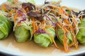 Fresh thai vegetable rolls — Stock Photo