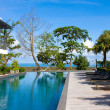Stock Photo: Swimming pool in luxury resort near the sea