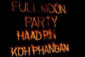 Full moon party — Stock Photo