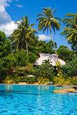 Beautiful swimming pool in Thailand — Stock Photo