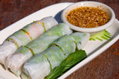 Fresh thai vegetable rolls — Stock Photo