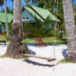 Tropical house on the beach — Stock Photo #10910309