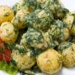Potatoes and tomatoes with herbs — Stock Photo #10926525