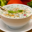 Stock Photo: Russicold soup - okroshka