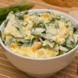 Salad of ramsons along — Stock Photo