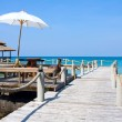 Wooden Pier In Tropical Paradise — Stock Photo #10953631