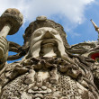 Statue at the temple Wat Phra Kaew in the Grand palace area in Bangkok, Thailand — Stock Photo