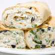 Cottage cheese wrap — Stock Photo
