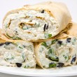 Stock Photo: Cottage cheese wrap