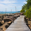 Wood walk way to sea . Island Koh Kood, Thailand . — Stock Photo #11043598