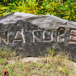 Wooden sign nature - Stock Photo