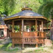 Chinese garden gazebo — Stock Photo