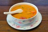 "Sopa tailandesa ""tom yum"" — Foto Stock"