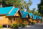Tropical house on the beach — Stock Photo