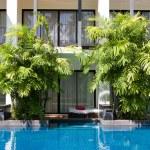 Swimming pool in spa resort — Stock Photo #11060873