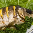 Fish carp stuffed — Stock Photo