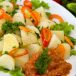 Stock Photo: Boiled potatoes with vegetables