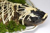 Fish carp stuffed — Stock Photo