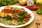 Baked vegetables — Stock Photo