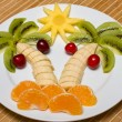 Creative fruit salad — Stock Photo