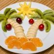 Creative fruit salad — Stock Photo