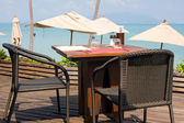 Idyllic cafe restaurant — Stock Photo