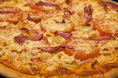 Closeup of homemade pizza — Stock Photo