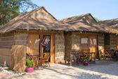 Casa de palha na praia — Foto Stock