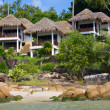 Tropical house on beach — Stock Photo #11329294