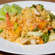 Stock Photo: Seafood fried rice