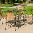 Stock Photo: Terrace with table and chairs