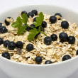 Bowl of muesli with blueberries — Foto Stock