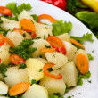 Boiled potatoes with vegetables — Stock Photo #11399516