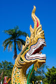 Dragon statue at a temple in Thailand — Stock Photo