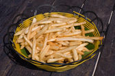 French fries on a plate — Stock Photo