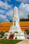 White pagoda in thai temple — Stock Photo