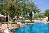 Swimming pool in spa resort . — Стоковое фото