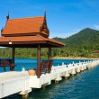 Stock Photo: Thai-style gazebo on pier