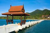 Thai-style gazebo on the pier — Stock Photo