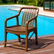 Chair near the swimming pool — Stock Photo