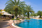 Swimming pool in spa resort . — Stock Photo