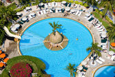 Top view of beautiful swimming pool — Stock Photo