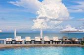Swimming pool near the sea , Thailand. — Stock Photo