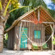 Tropical beach house — Stock Photo