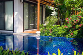 Swimming pool in house . Thailand . — Stock Photo
