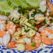 Shrimp with garlic and onions - 图库照片