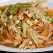Papaya salad hot and spicy - 图库照片