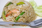 Rice with seafood — 图库照片